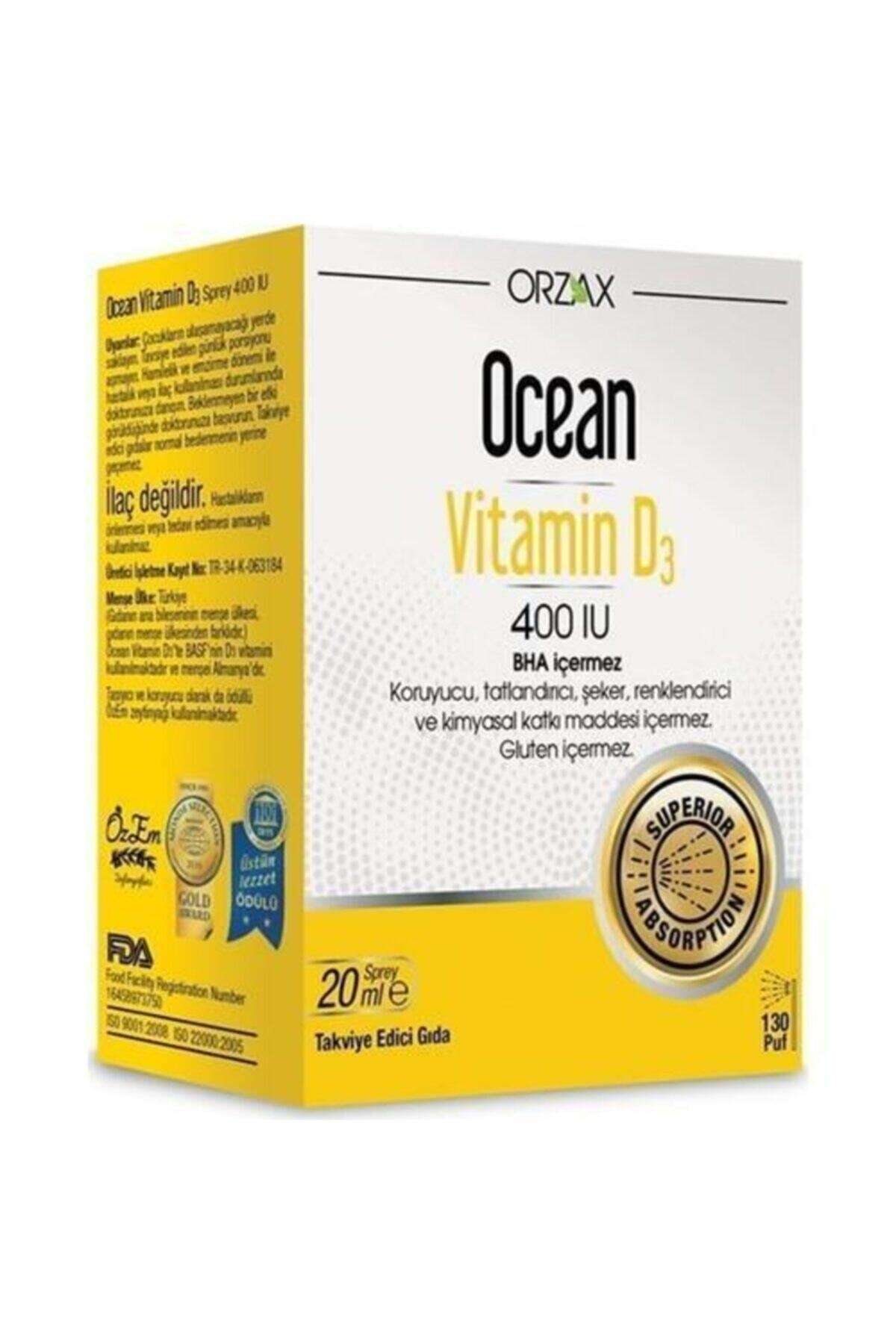 Orzax Ocean Vitamin D3 400 Sprey 1