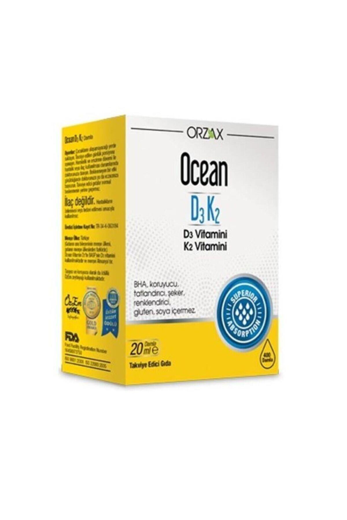 Orzax Ocean D3k2 Damla 20 ml 1