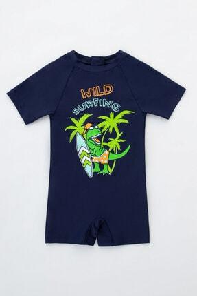Penti Erkek Çocuk Lacivert Dinozor Desenli Mayo