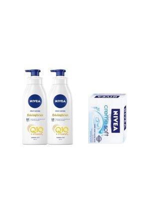 Nivea Q10 Vücut Sıkılastırıcı 400ml+400ml+ Sabun