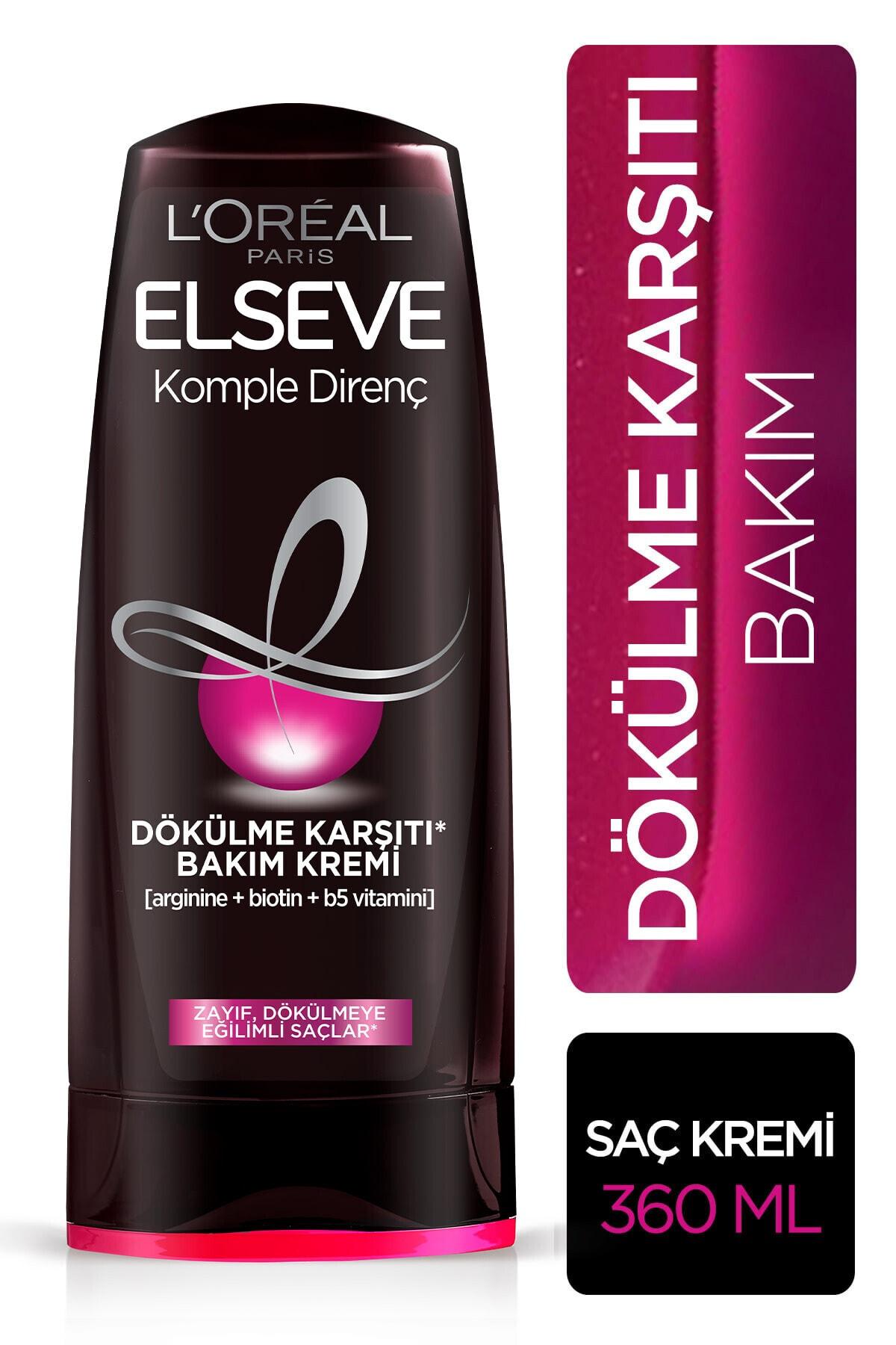 ELSEVE Zayıf Dökülmeye Eğilimli Saçlar İçin Arginine Saç Kremi 360 ml 1