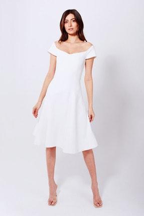 Whenever Company Kadın Beyaz Bridal Özel Dikim Kloş Abiye Elbise