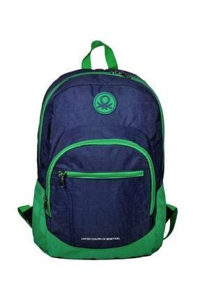 Benetton Unisex Çocuk Yeşil Sırt Çantası 96015