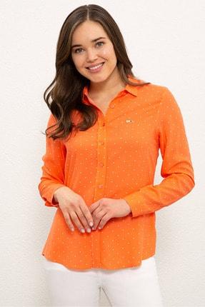 U.S. Polo Assn. Turuncu Kadın Gömlek G082SZ004.000.1269431