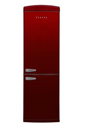 Vestel RETRO NFK37001 BORDO No-Frost Kombi Buzdolabı