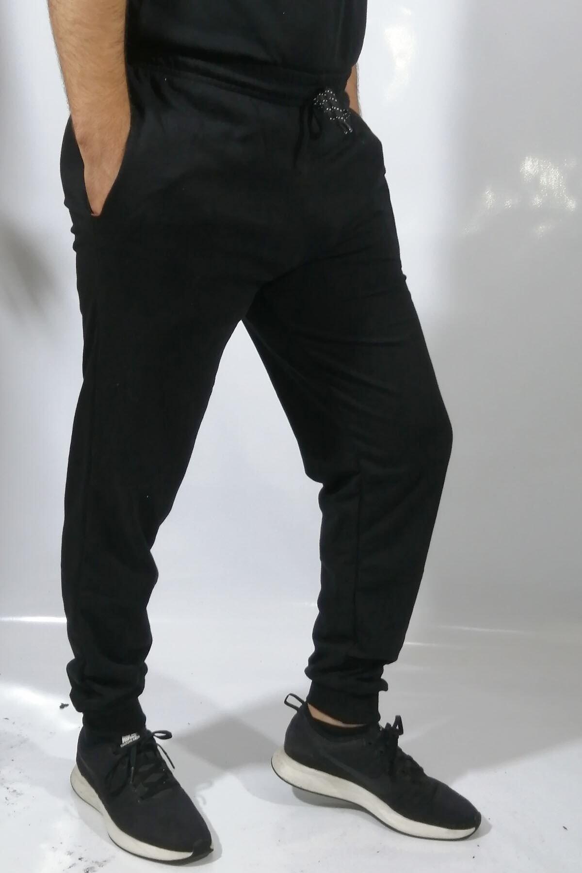 bck Unisex Siyah Paçası Lastikli Eşofman Altı 1