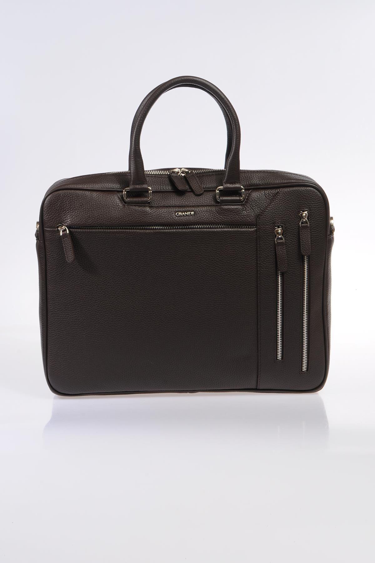 Grande Kahverengi Unisex Laptop & Evrak Çantası 8690027123633 1