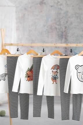 Hibboux Unisex Beyaz ÇocukForest  Pijama Üst
