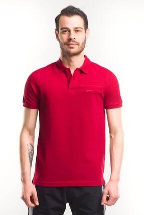 Slazenger PARTY Erkek T-Shirt Bordo ST10TE106