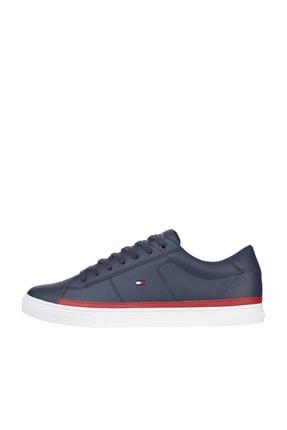 Tommy Hilfiger Erkek Mavi Sneaker Essentıal Deri Sneaker FM0FM03394
