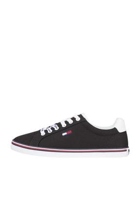 Tommy Hilfiger Kadın Siyah Sneaker Essentıal Lace Up Sneaker EN0EN00786