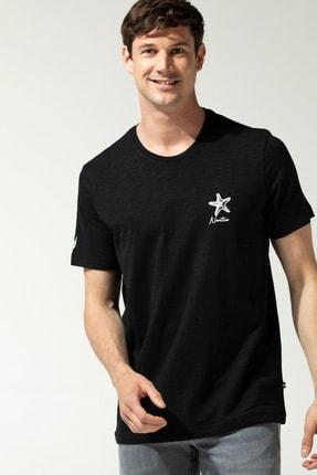 Nautica Erkek Siyah Baskılı T-Shirt V15436T