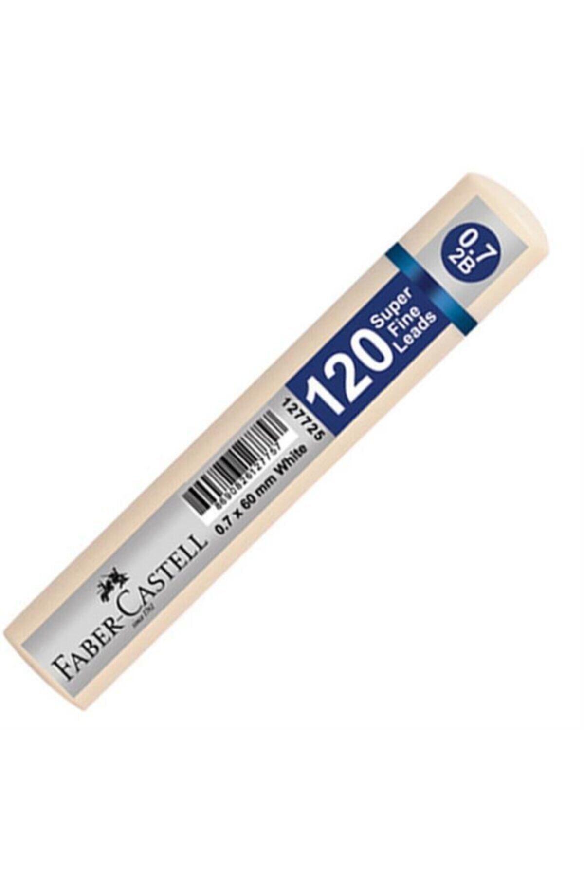 Faber Castell Grip Min 0.7 2b 60 Mm 120`li Beyaz Tüp 1 Adet 1