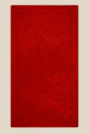 Bluenity Taş Doğal Pamuk Banyo Matı 60x100 Cm - Kırmızı