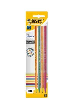 Bic Evolution Stripes Kurşun Kalem 4'lü Blister 4'lü Blisterli Trıangle