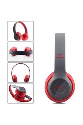 POLYGOLD P47POL Bluetooth Kulaklık Mp3 Fm Solo 2 Beats Model Kulaküstü - Kırmızı