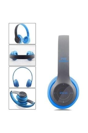 POLYGOLD P47POL Bluetooth Kulaklık Mp3 Fm Solo 2 Beats Model Kulaküstü Mavi