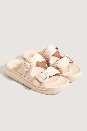 Oysho Kadın Pembe Tokalı Sandalet