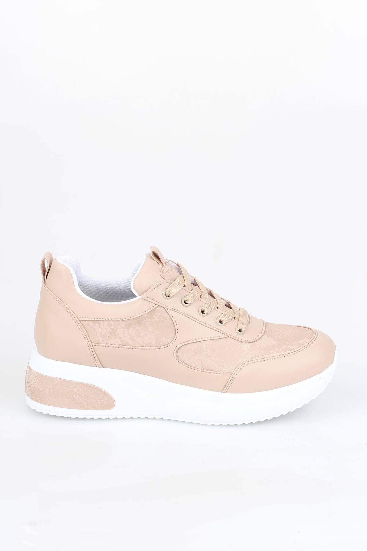 Modabuymus Kadın Spor Dolgu Topuklu Ayakkabı 1
