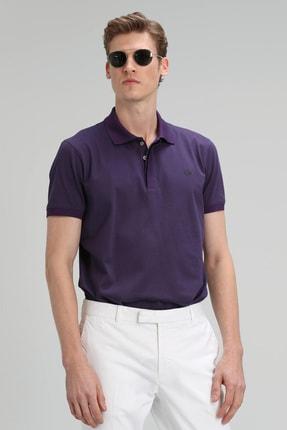 Lufian Jons Spor Polo T- Shirt Mor
