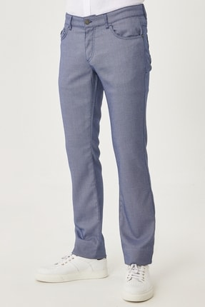 ALTINYILDIZ CLASSICS Erkek Lacivert Slim Fit Casual Pantolon