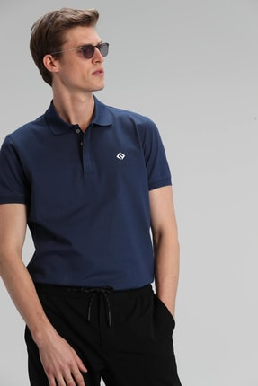 Lufian Jons Spor Polo T- Shirt Açık Lacivert