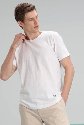 Lufian Junya Modern Grafik T- Shirt Beyaz