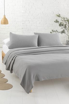English Home Cool Stripe Soft Touch Çift Kişilik Pike Seti 200x220 Cm Gri