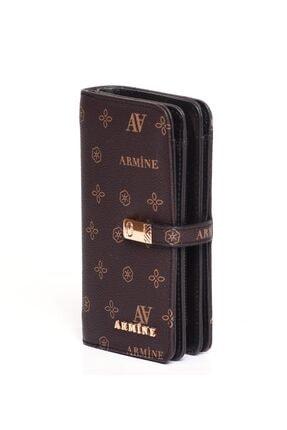 Armine C02 Kahverengi Baskılı Cüzdan