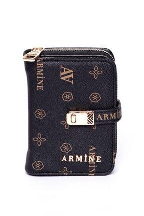 Armine C01 Siyah Baskılı Cüzdan