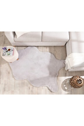 English Home Solid Rabbit Polyester Post 80x150 Cm Gri