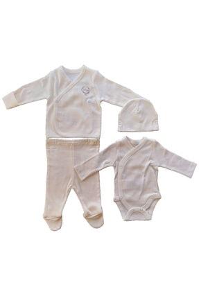 kitikate %100 Pamuklu Düz Renkli Kız Ve Erkek Bebek 4lü Organik Prematüre Zıbın Seti