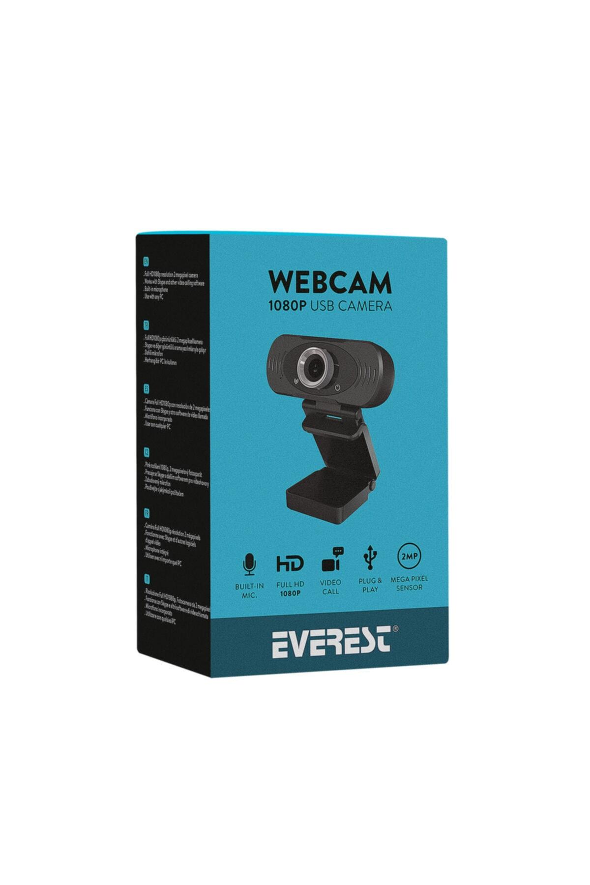 Everest Sc-hd03 1080p Full Hd Webcam Usb Pc Kamera 1
