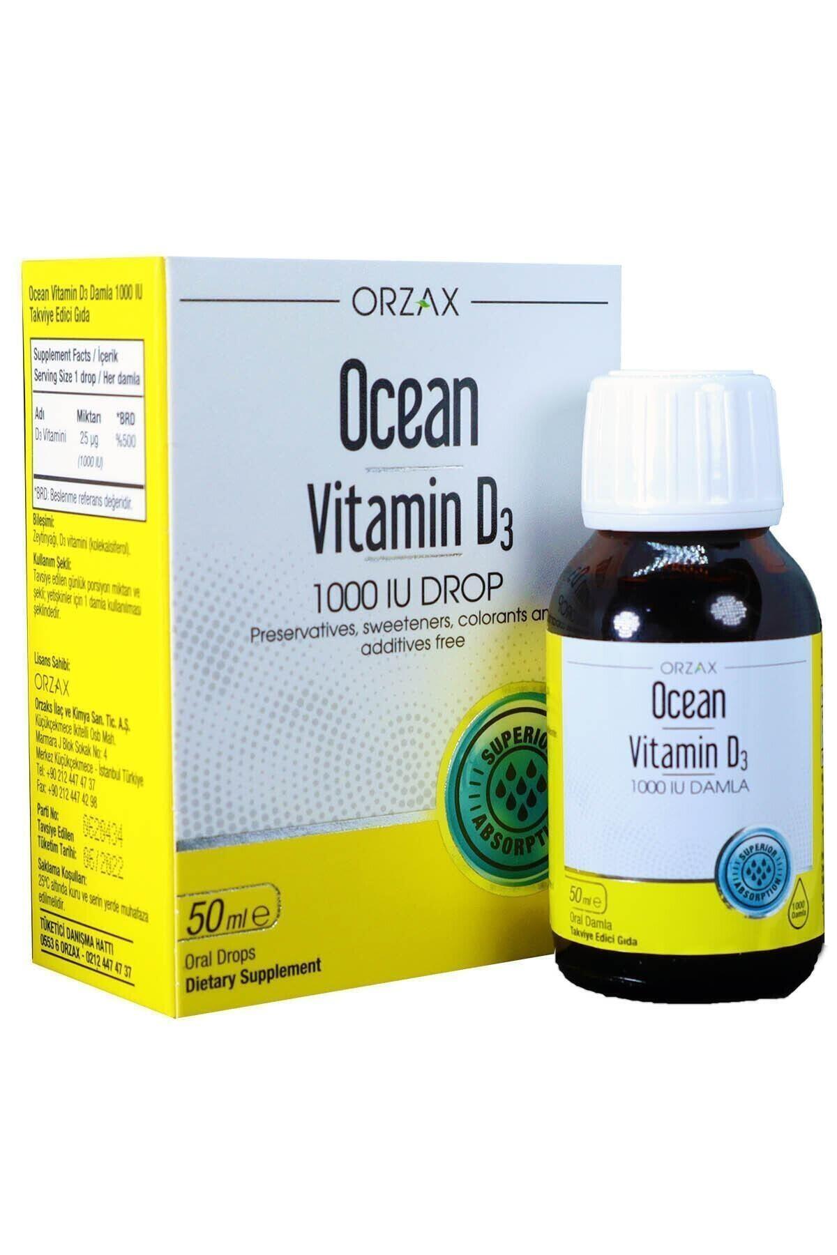 Orzax Ocean Vitamin D3 1000 Iu Oral Damla 50 ml 2