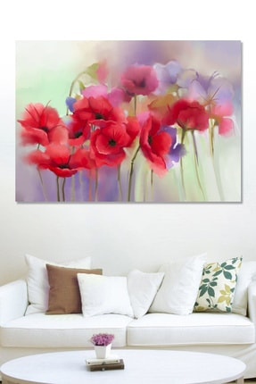 Hediyeler Kapında Smooth Poppy Kanvas Duvar Tablo
