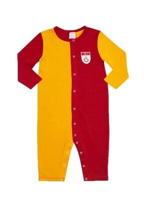 GSStore Unisex Bebek Sarı Kırmızı Forma Tulum B88002