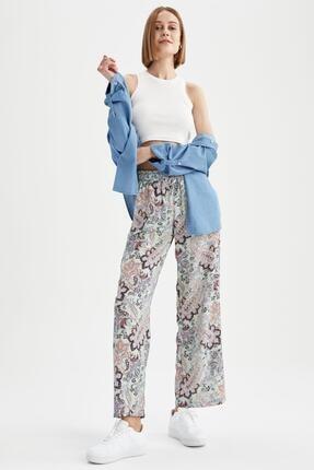 DeFacto Kadın Turkuaz Relax Fit Pantolon