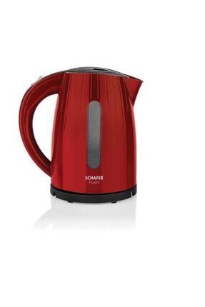 Schafer Kırmızı Fluent Elektrikli Su Isıtıcı Kettle