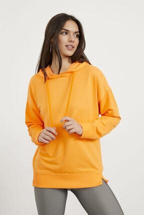 Arma Life Kadın Turuncu Kapüşonlu Sweatshirt
