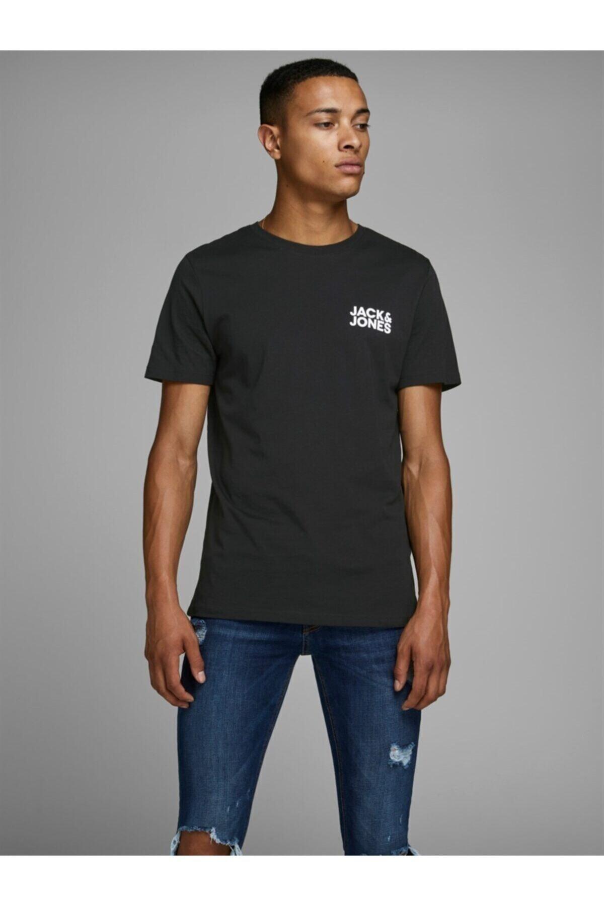 Jack & Jones JJECORP LOGO TEE SS O-NEC Siyah Erkek T-Shirt 101069463 1