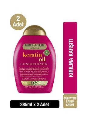 OGX Kırılma Karşıtı Keratin Oil Bakım Sülfatsız Kremi 385 ml x2