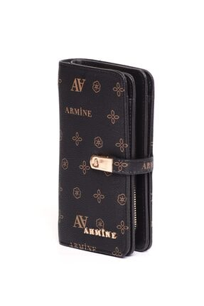 Armine C02 Siyah Baskılı Cüzdan