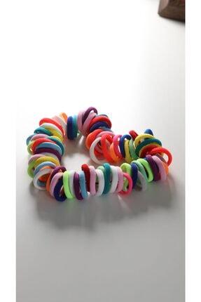 charm hair accessories Charm Esnek Renkli Çocuk Saç Tokası Seti 100 Adet Minik Boy