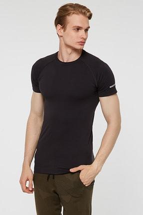 Jerf Binic Melanj Efektli Regular Fit T-shirt Antrasit