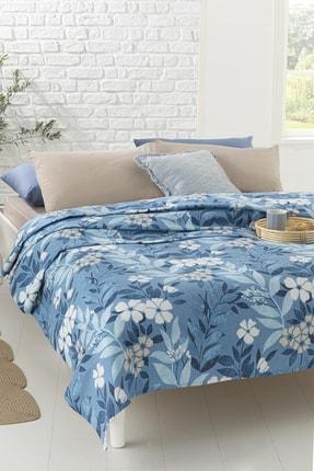 English Home Summer Garden Baskılı Çift Kişilik Pike 200x220 Cm Mavi