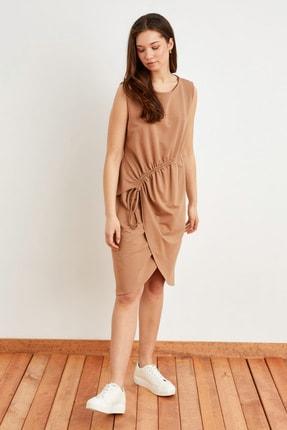 Love My Body Kadın Camel Ayarlanabilir Bağlamalı Kolsuz Elbise 124L7861000