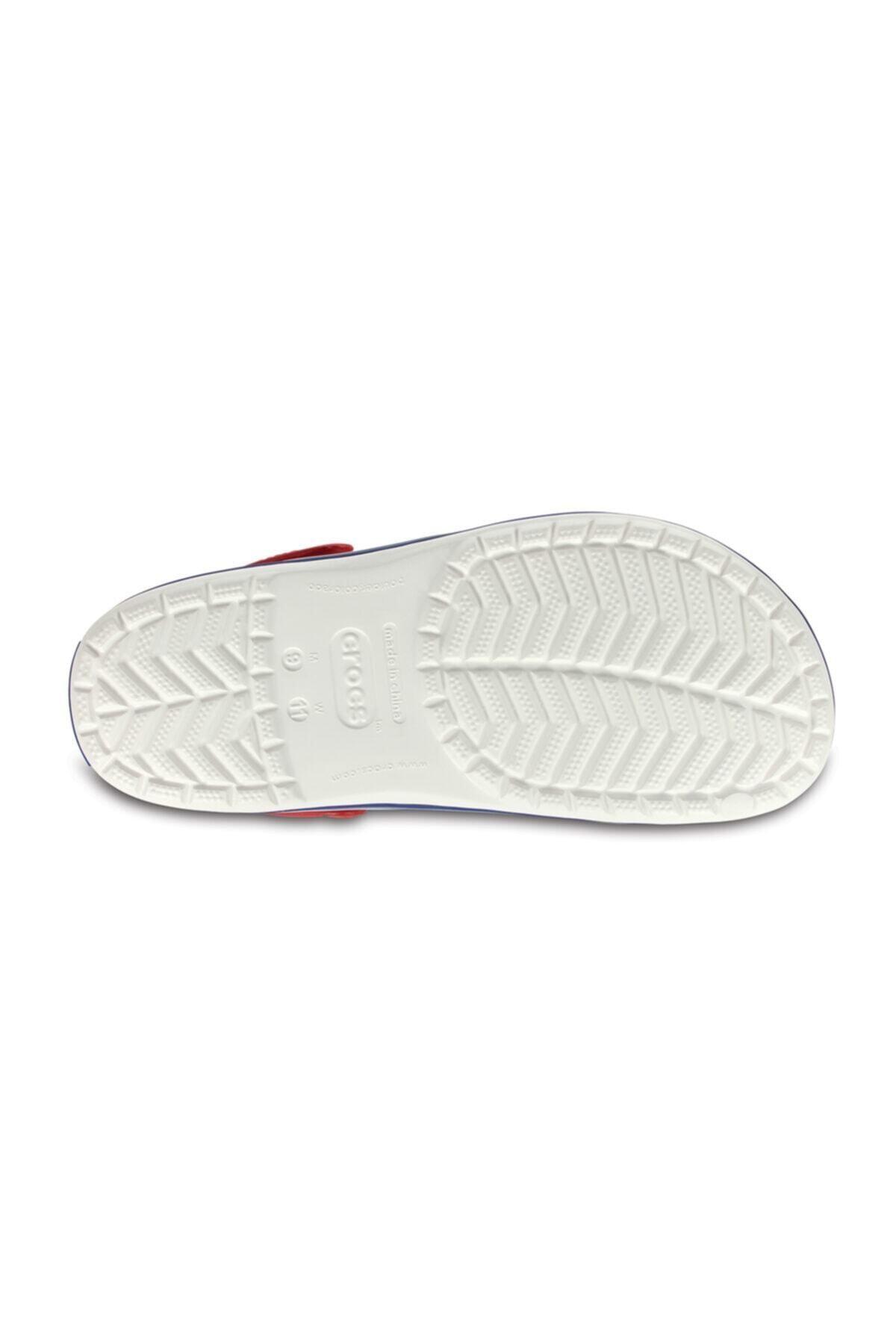 Crocs Beyaz Unisex Crocband Kenarı Lacivert Beyaz Çizgili Terlik 2