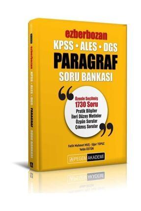 Pegem Akademi Yayıncılık Pegem Yayınları 2021 Kpss Ales Dgs Ezberbozan Paragraf Soru Bankası