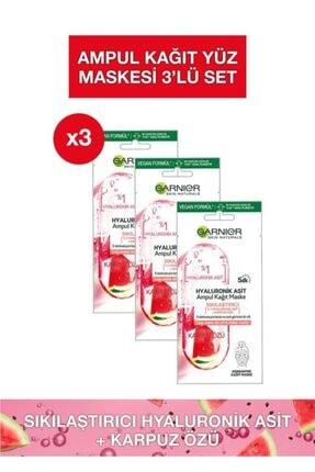 Garnier Hyaluronik Asit Sıkılaştırıcı Ampul Kağıt Maske 3'lü Set