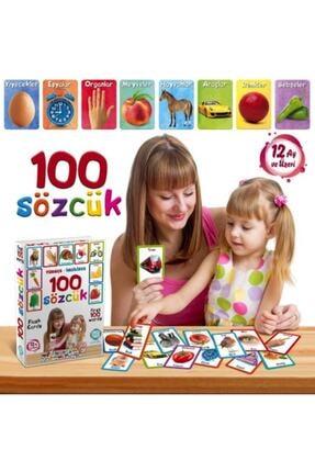 ErdemShop Ingilizce-türkçe Ilk 50-100 Bebek Eğitim Kelime Sözcük Kartı Oyun